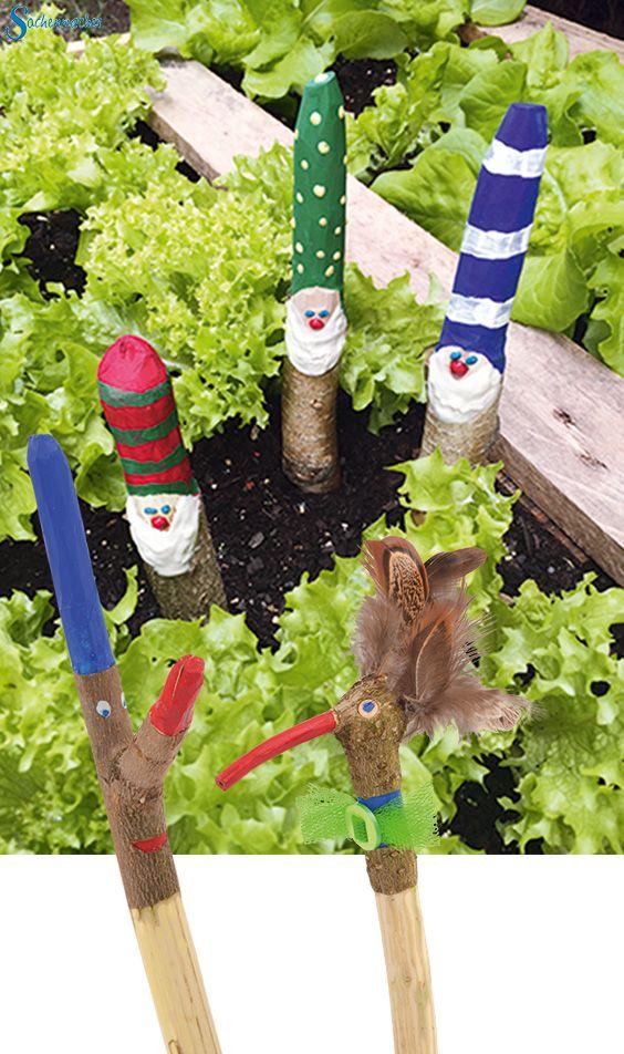 Gartendeko basteln mit kindern  Die besten 25+ Stöcke Ideen auf Pinterest | Baumast Kunst, Ballon ...
