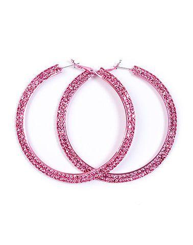 LOLA Hoop earrings All around rhinestone detail Snap clasp closure Lightweight for ultimate comfort