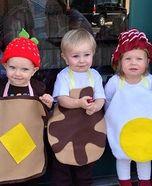 "Haha. ""Breakfast Food"" homemade baby/toddler Halloween costumes."