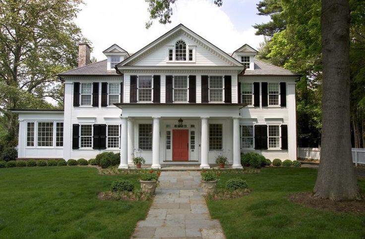 Case e ville in stile americano design arredo vintage coloniale tudor stile vittoriano rustico ranch foto idee esempi arredamento moderno antico americano