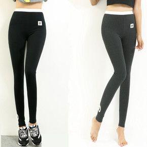 Весенний котенок тонкий срез Корейский хлопок леггинсы Waichuan растянуть тонкие брюки ноги серые колготки большой ярдов женский - глобальная станция Taobao