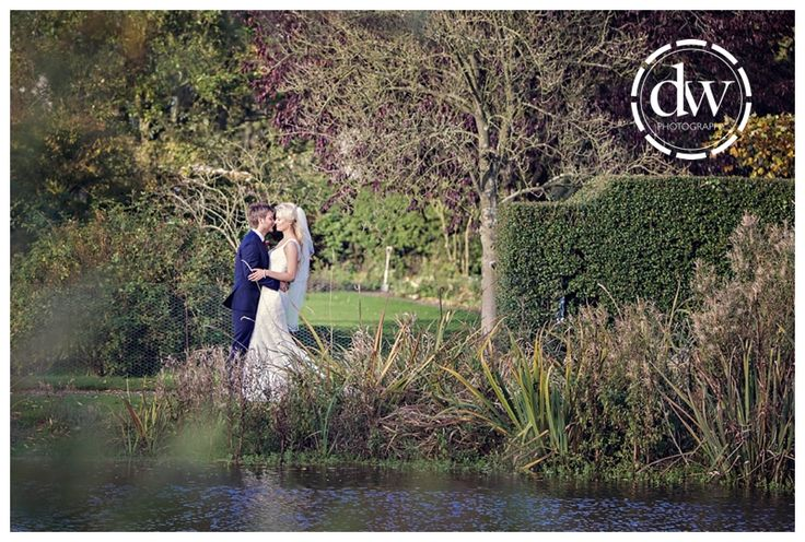 Bride and groom portrait at The Granary Barns, Suffolk