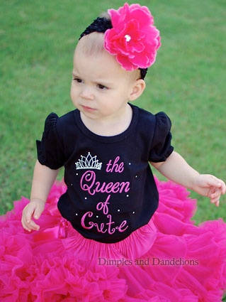 The Queen of Cute Black Sparkle Romper