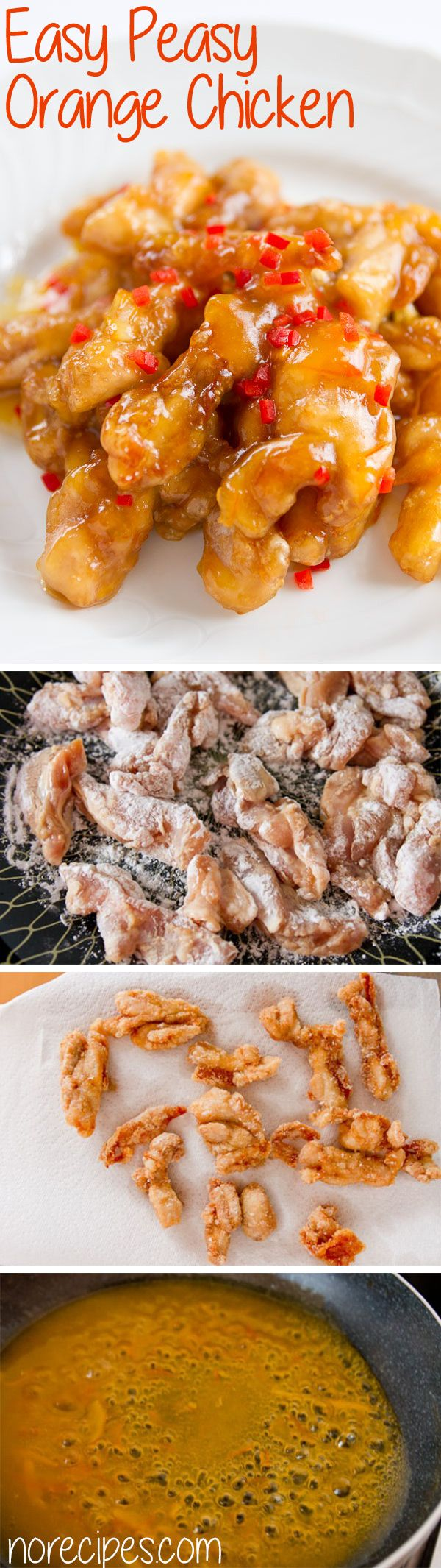 Flavorful marinated chicken with a sweet and tangy orange sauce.