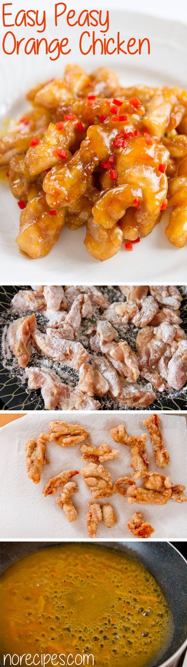 Pollo a la naranja (idioma:inglés,medidas  americanas)