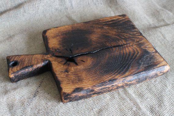 Old Rustic Cutting Board Wooden Serving Board Vintage от Woodber