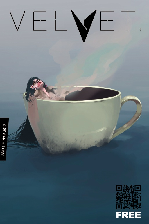 """Portada Revista Velvet Año1 No. 9 """"Ball Of Water"""" por Carolina Rodriguez Fuenmayor"""