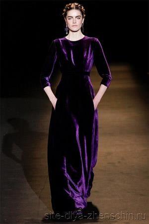 Бархатное платье в журнале бурда