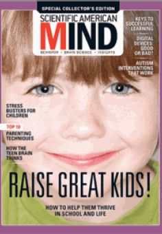 """Have you seen the May 2016 special edition of Scientific American Mind? There's a 6 page spread about Selective Mutism! We had to splurge and buy the magazine ($11.99 Canadian-- expensive but worth it!). The whole issue is about """"raising great kids"""". We're not affiliated with the magazine, just big fans!"""