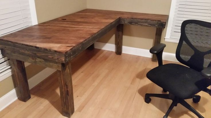 Using almost entirely reclaimed wood and flooring, Micah was able to create a sturdy desk to last him through his college years.