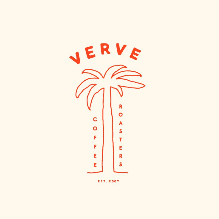 Hand-drawn illustration for Verve Coffee Roasters #illustration #design #coffee #branding #miafabbri #typography