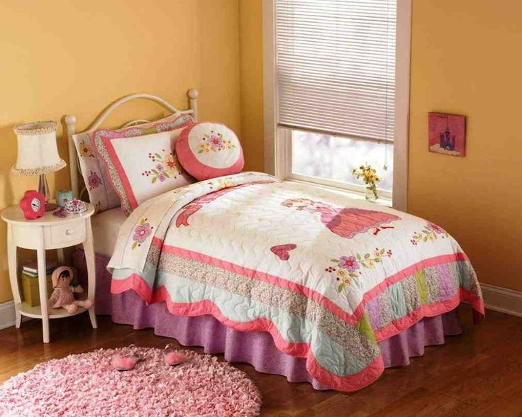 Captivating Princess Beautiful Bedding Pink Quilt In Twin And Full Queen For Girls