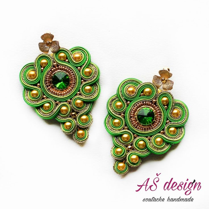 AŠ design Soutache Jewellery 2016 - soutache earrings