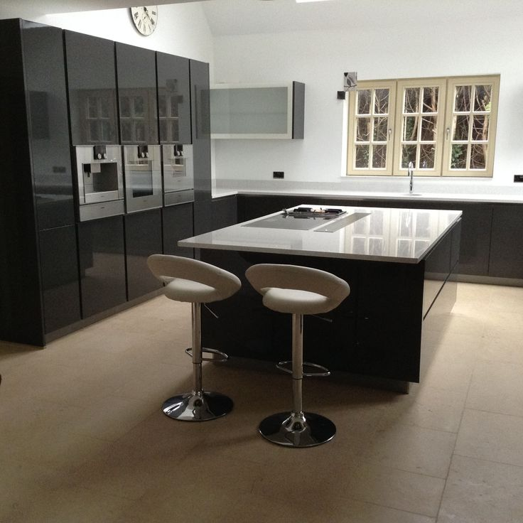 Superior The Sorrento Cream Bar Stool Looks Beautiful In This Highly Stylish Modern  Gloss Kitchen! The