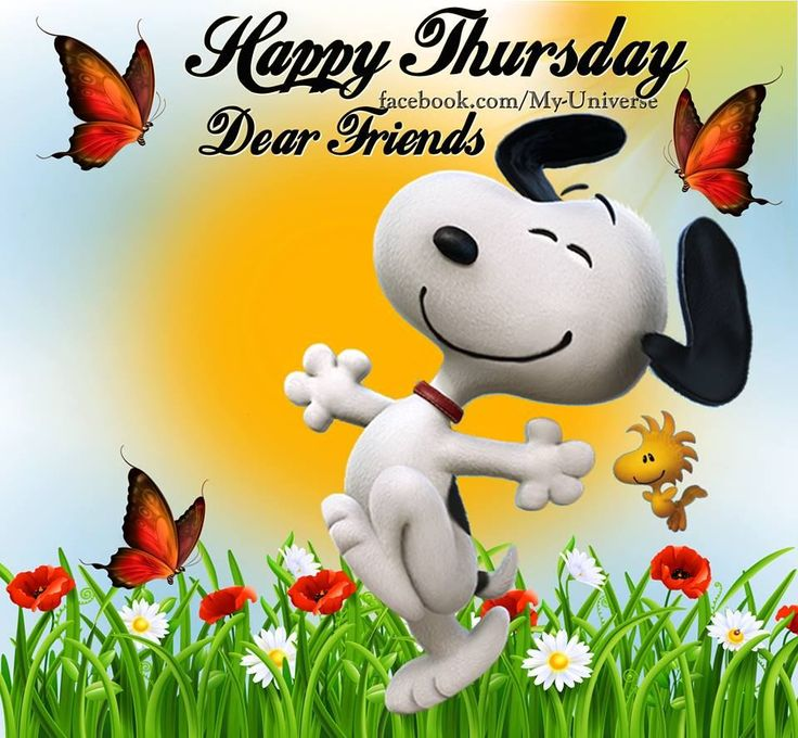 Happy Thursday Dear Friends Snoopy Quote