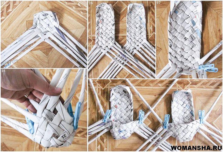 Фото - идея.  Плетение лаптей