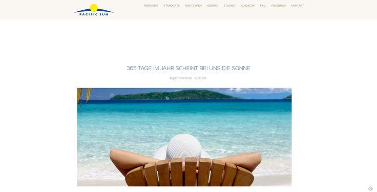 Erstellung Website der Pacific Sun Solarien in Zürich mit TYPO3 7.6 und responsivem Design. https://www.cytracon.com/projekt-galerie/detail/news/News/detail/neuerstellung-pacific-sun-solarien/
