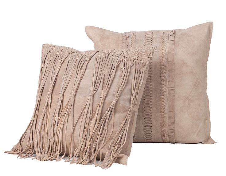 New To The Winter Trade Shows Fibre By Auskin Suede Pillows In Tassle And Fringe