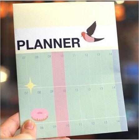 Semestre planner calendario conto alla rovescia vita quotidiana calendario da parete sei mesi il lavoro di studio pianificazione tabella di destinazione notepad cancelleria