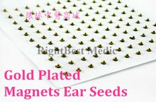 Magnets Gold Plated Ear Seeds Sticker Paste Bean Acupressure massage seed for Acupoint Therapy Auricular Acupuncture 121 PCS //Price: $US $6.25 & FREE Shipping //
