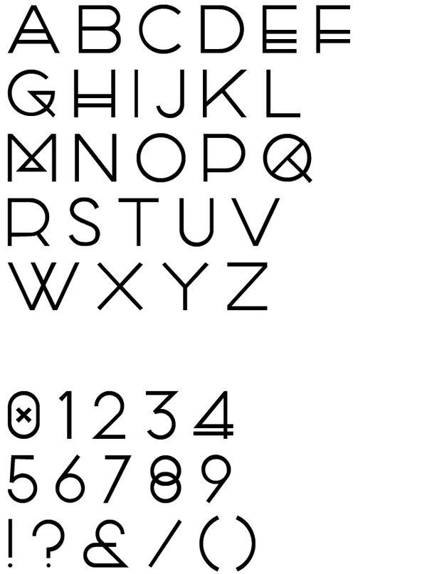 PARQA Typeface by Marco Oggian, via Behance