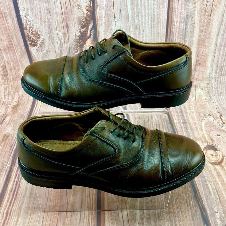 Hush Puppies Mens Shoes wide fit size 9 brown leather lace up style go for life