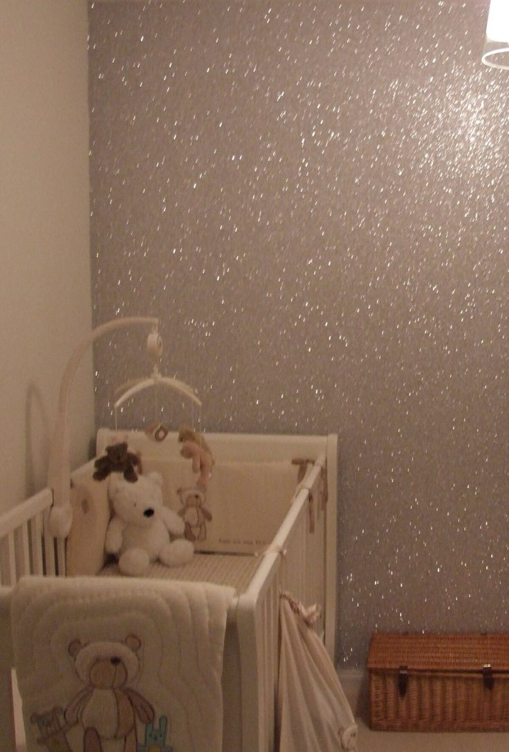 Mix a gallon of glue with glitter, and you've got a sparkly wall! Paint over whatever color you like.