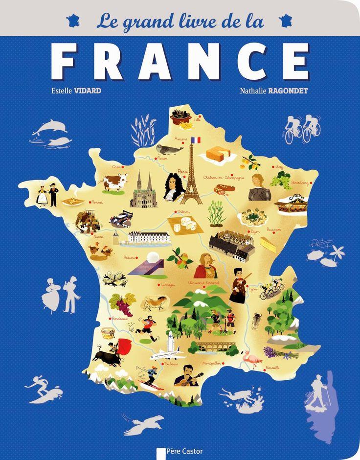 11 best FLE   Cartes de France images on Pinterest   Map of france