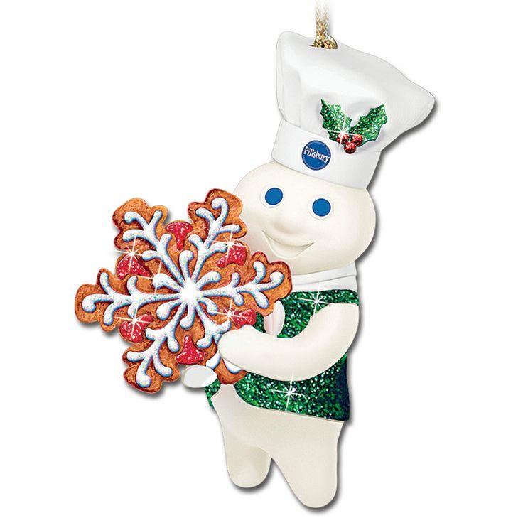 pillsbury doughboy figures pillsbury doughboy glitter ornaments snowflake - Pillsbury Dough Boy Halloween Cookies