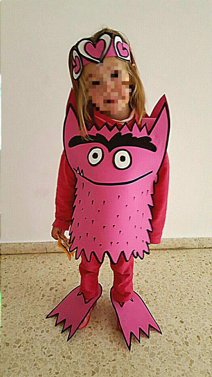 disfraz monstruo colores goma eva amor