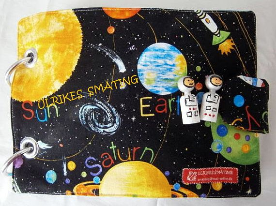 Great fabric book space astronauts rocket / by UlrikesSmaating