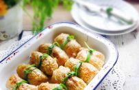 Verza ripiena di polpettone di patate