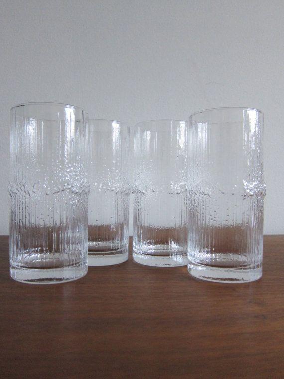 iittala Niva Tapio Wirkkala Highball Glasses by ModernSquirrel, $115.00