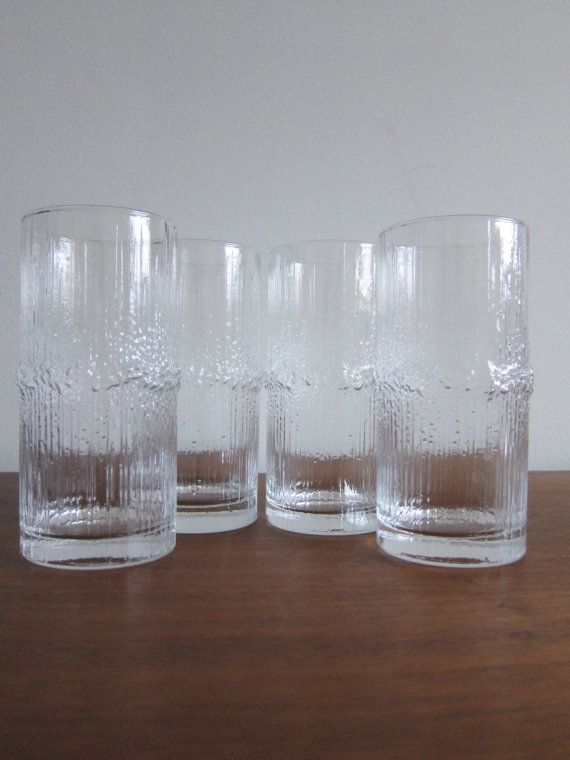 iittala Niva Tapio Wirkkala Highball Glasses  by ModernSquirrel, $115.00