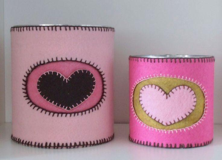 Barattoli rosa con cuore