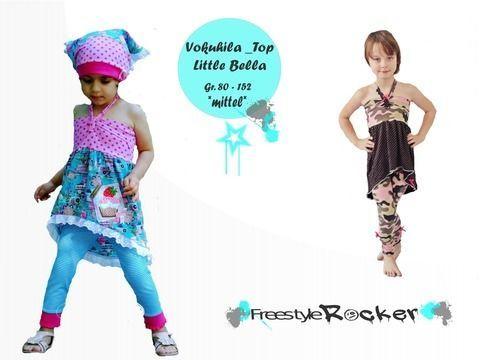 Sommershirt+Little+Bella    Beschreibung:  Little+Bella+ist+ein+schlichtes+Sommerhirt+im+Vokuhila+Stil,+welches+mit+Bindebändern+geschlossen+wird.  Durch+das+Bandeau+Top+lässt+es+sich+auch+wunderbar+als+Strandrock+tragen,+dabei+werden+die+Träger+einfach+zum+Bindegürtel.  Du+kannst+Little+Bella+aber+auch+ganz+ohne+Träger+nähen.  Das+Oberteil+lässt+sich+ganz+individuell+an+die+Statur+deines+Kindes+anpassen+und+ermöglicht+Dir+auch+bei+schlanken+Kids+eine+sehr+gute+Passform.    Material…