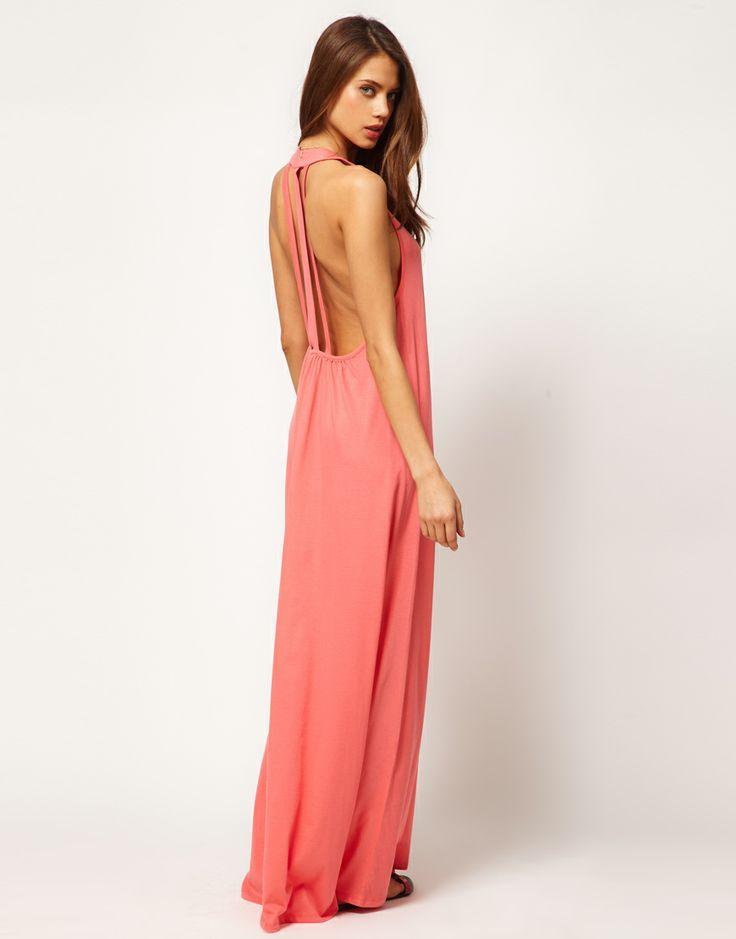 cute maxi dress: Pink Maxi, Long Dresses, Triple Straps, Fashion Beautiful, Maxi Dresses, Backless Dresses, Bridesmaid Dresses, Back Details, Asos Maxi