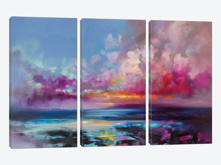 Arran Glow by Scott Naismith 3-piece Canvas Art Print