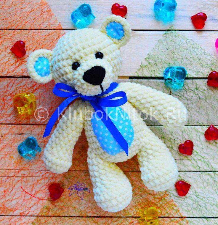 Мишка- погремушка | Вязание для детей | Вязание спицами и крючком. Схемы вязания.