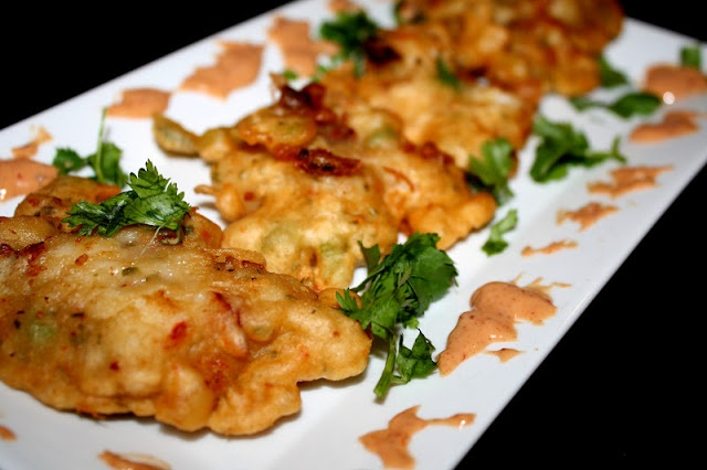 Argentine Red Shrimp Fritters - made these, they're delicious - they use mix for bacalaitos!