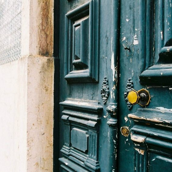 Lisbon Portugal, door, architecture, buildings, tiles, rustic, weathered, travel, Europe.