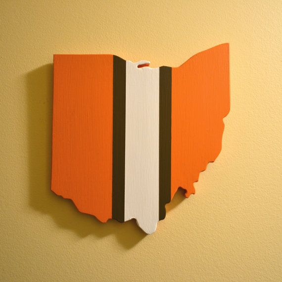 Cleveland Browns Wall Art by OhioWallArt on Etsy