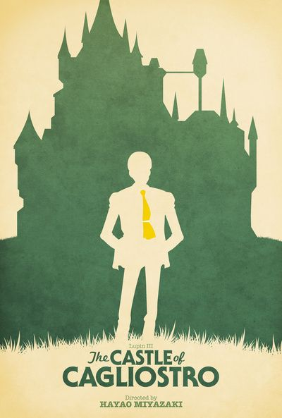 Lupin III castle Of Cagliostro Retro Movie Poster by Ben Huber