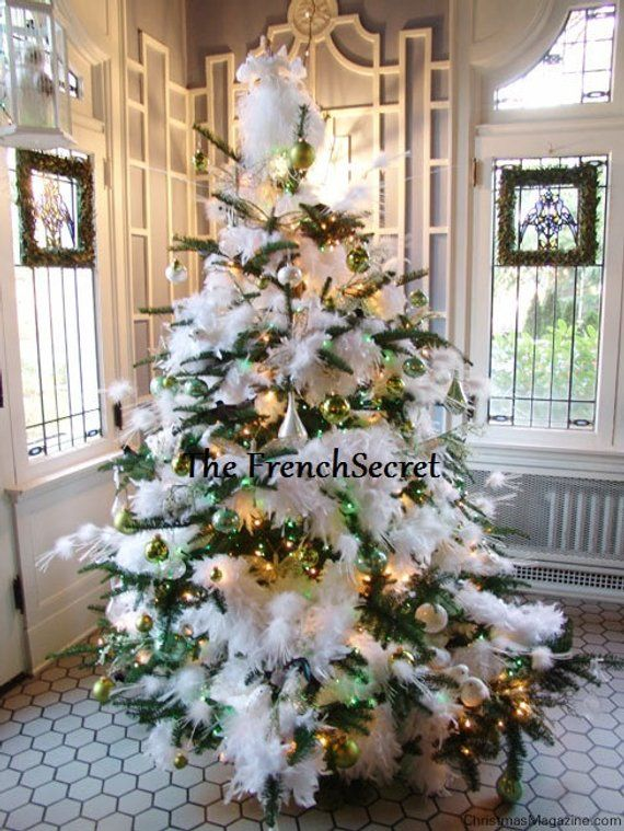 Vintage Valentine White Feather Garland Decoration Ornament Etsy Christmas Decor Accents Christmas Tree Decorations Christmas Tree Themes