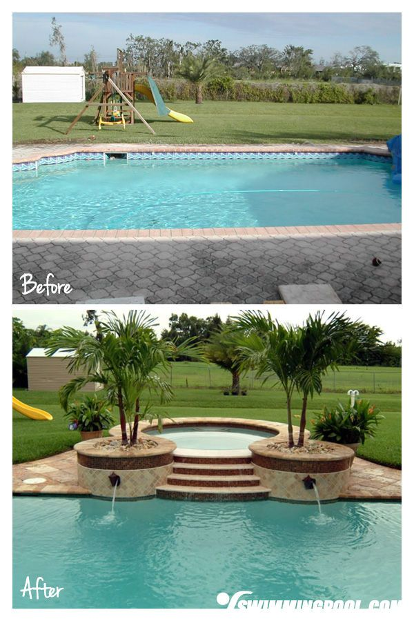 Pool Remodel with a New Hot Tub