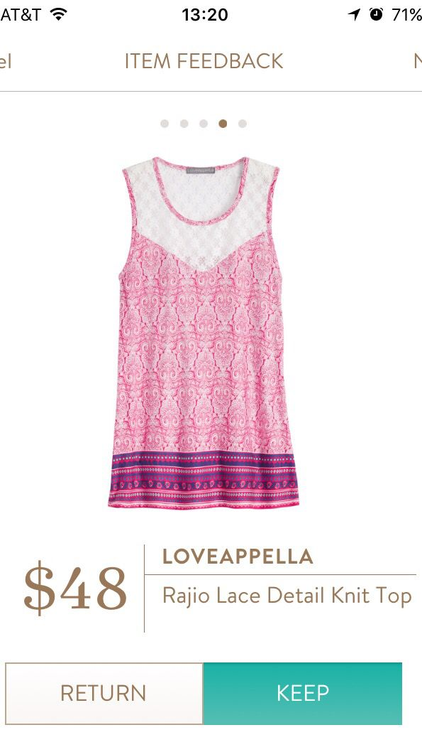 #stitchfix @stitchfix stitch fix https://www.stitchfix.com/referral/3590654 Stitch Fix May 2016-Loveappella Rajio Lace Detail Knit Top, so cute!