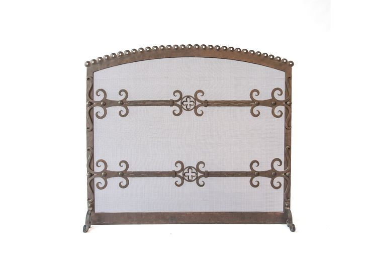 Buy Chantal Iron Firescreen  by LCR Furniture & Design - Made-to-Order designer Accessories from Dering Hall's collection of Transitional Fireplace Mantels & Accessories.