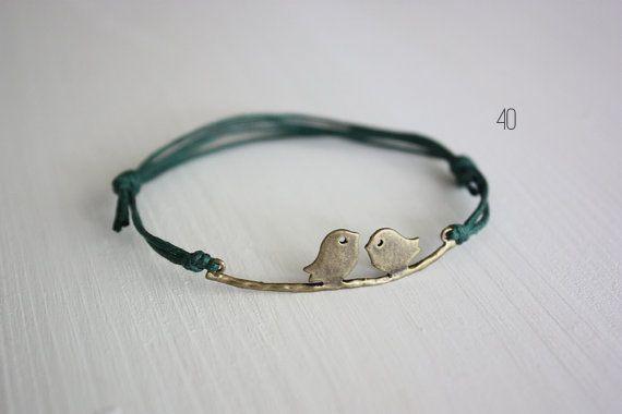 50 best bird wedding ideas: #40 love bird bracelet (by believe in good karma)