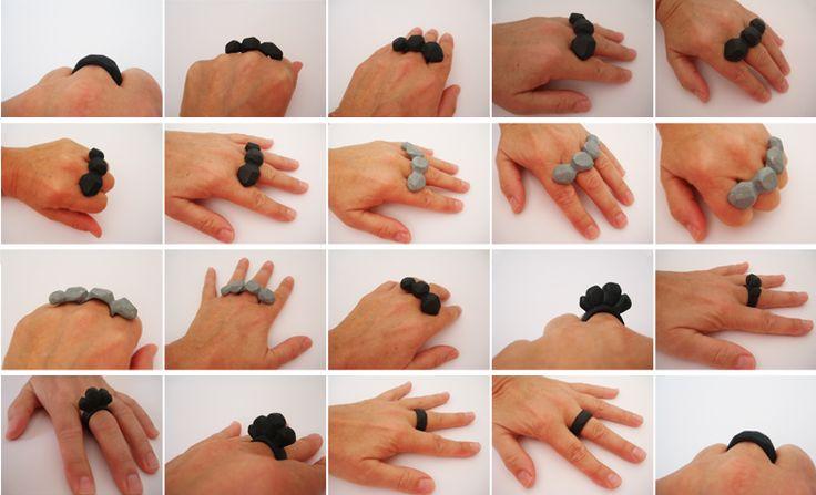 Inga Svendsen, It's Complex Rings, 2014. porcelain Trudie Alfred Bequest Scholarship