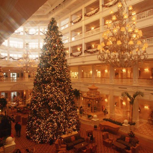Grand Floridian Christmas Tree at Disney World ~~ MY absolute favorite resort hotel to stay at in Disney World!!!!